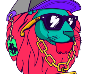 lion and swag image