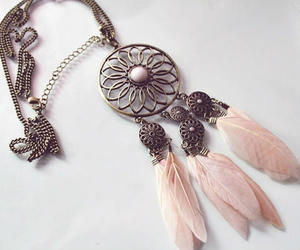 accessories, pink, and necklace image