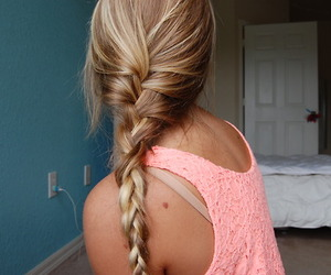 beautiful, braid, and shirt image