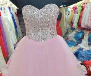 dress, pink, and diamonds image