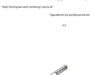 cigarette, kill, and poem image