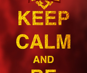 gryffindor, harry potter, and keep calm image