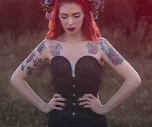 red hair, tattoo, and laurel fatal image