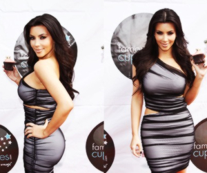 kim kardashian, dress, and fashion image