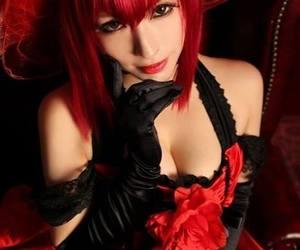 anime cosplay, kuroshitsuji cosplay, and red dress cosplay image