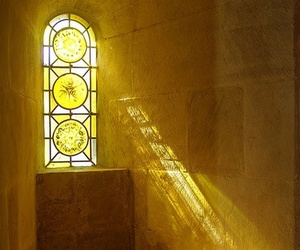 light, yellow, and window image