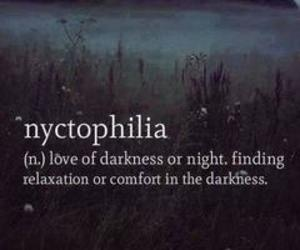 Darkness, nyctophilia, and dark image