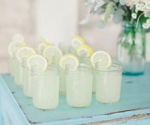 lemonade, drink, and lemon image
