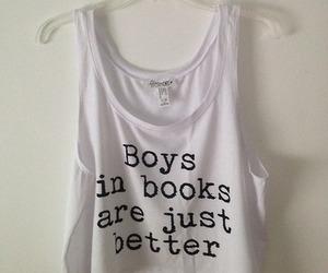 book, boy, and shirt image
