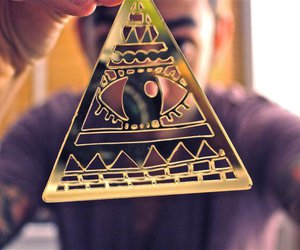 illuminati, necklace, and photography image