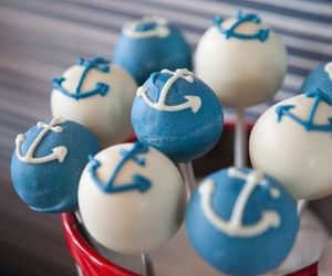 anchor, blue, and cupcake image