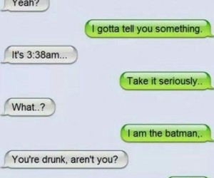 babe, batman, and message image