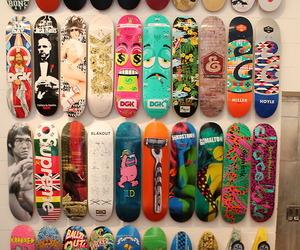 skate, skateboard, and supreme image