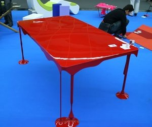 table, art, and awesome image