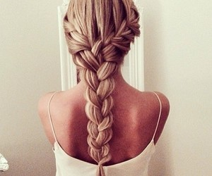 blond hair, girl, and braid image