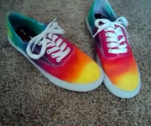 diy, paint, and sneaker image