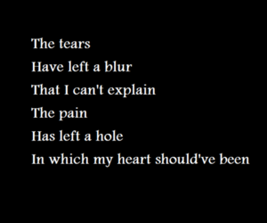 hole, pain, and song image