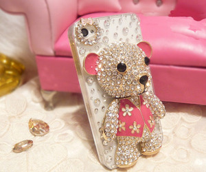 bear, iphone, and bling image