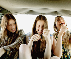 haim, girl, and car image