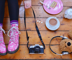 boots, camera, and photo image
