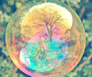 bubble, colors, and girl image