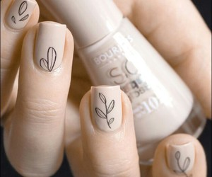 beautiful, creamy, and nail art image