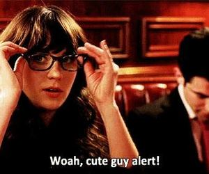 new girl, funny, and guy image