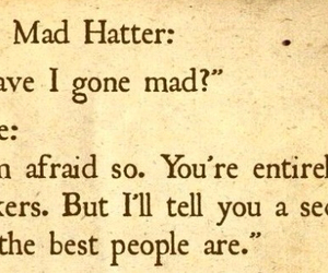 alice, mad hatter, and quote image