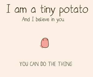 potato, believe, and funny image
