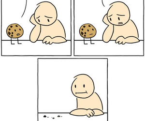 cartoon, cookie, and hungry image