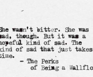 quote, sad, and the perks of being a wallflower image