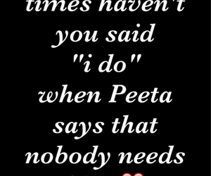 peeta, thg, and love image