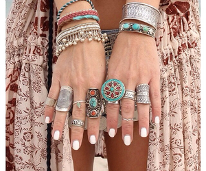 rings, fashion, and boho image