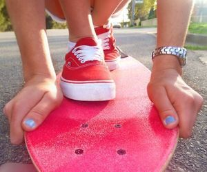 blue nails, dope, and skateboard image