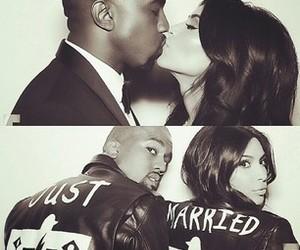just married, kim kardashian, and love image