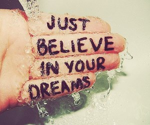 believe, dreams, and hand image