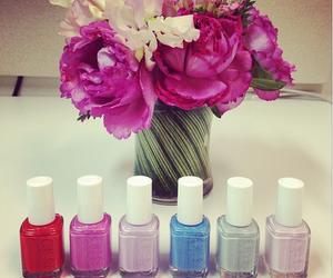 flowers, nails, and nail polish image