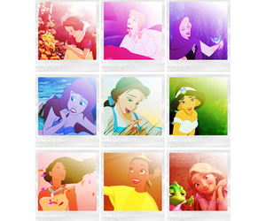 aladdin, belle, and the little mermaid image