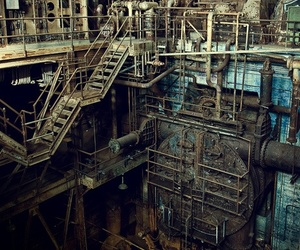 abandoned, power plant, and factory image
