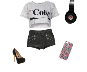 coca, coke, and fashion image