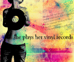 colorful, girl, and music image