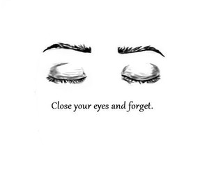 eyes, forget, and close image