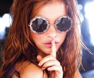 barbara palvin, model, and sunglasses image