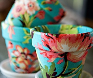 flowers, diy, and pot image