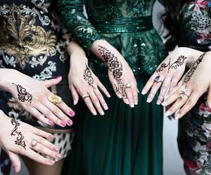 henna, dress, and girl image