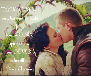 once upon a time, quote, and prince charming image