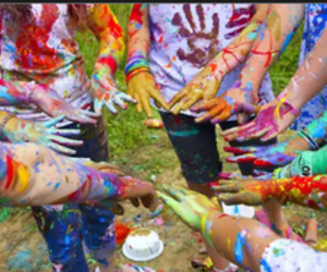 color, fun, and hands image