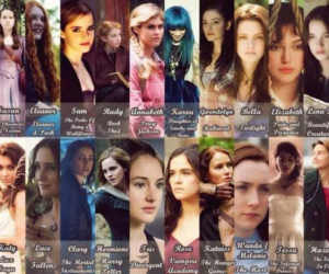 bella, katniss, and hermione image