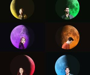 colors, moonlight, and werewolf image