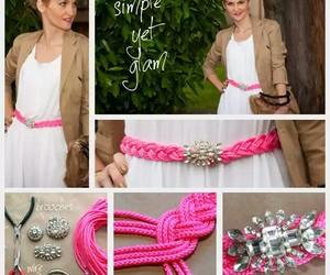 diy, pink, and belt image